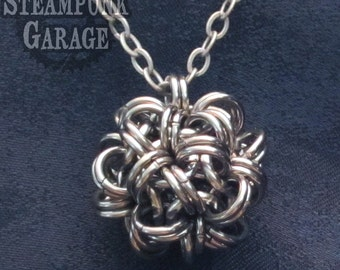 STEEL Dodecaherdron 12-Sided Chainmaille Ball - Monkey Paw