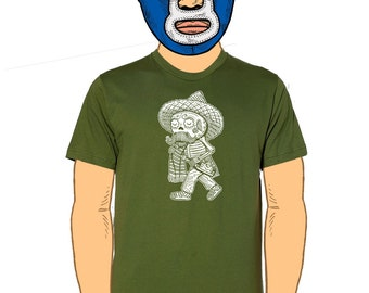 Borracho Calavera Men's T-Shirt Small, Medium, Large, X-Large in 4 Colors