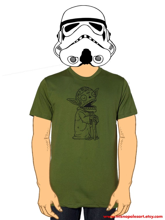 Old Yoda Calavera Mens T-Shirt Small, Medium, Large, XL in 9 Colors