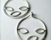 Sterling silver hoop earrings,  Autumn Hoops