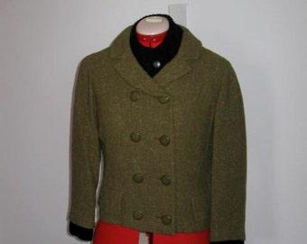 Vintage Jacket Pickle Green Double Breasted Jacket