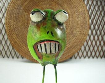 Zombie Art Scupture - Shambling Easter Zombie Eggs - Walking Undead - Chompsky