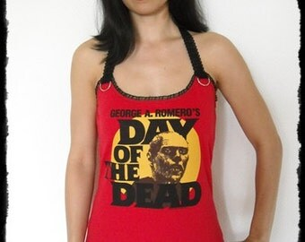 Day of the Dead shirt horror movie Halter top bub zombie gothic alternative clothing apparel dark style altered tee t-shirt george romero