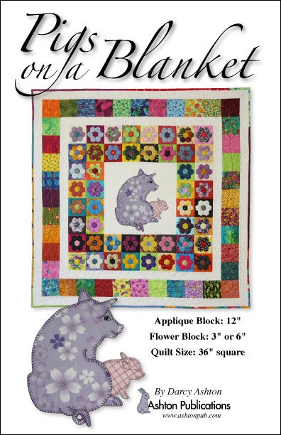 Pig Quilt Pattern Pigs On A Blanket Applique Baby Quilt
