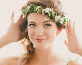 Boho woodland wreath, Floral circlet, Bridal flower crown, Floral headpiece, Wedding head piece, Woodland hair crown - QUEEN of the WOODS