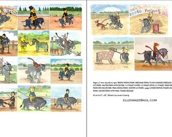 Equestrian POOH, Eeyore, Tigger, Piglet Choose 3 from 16 poses SALE