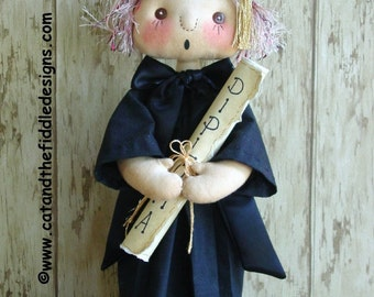 CF243 JUNE'S GRAD - pdf ePattern Cloth Graduation Doll Pattern