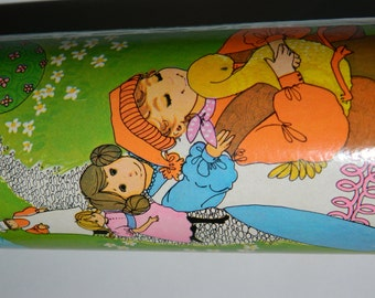 1960's The Golden Goose Puzzle in a Tube, Jigsaw Puzzle 54 Pieces, L'oel au Plumage D'OR Made in Canada