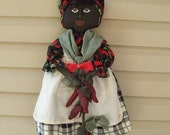 Pattern Primitive Doll with chili peppers ePATTERN