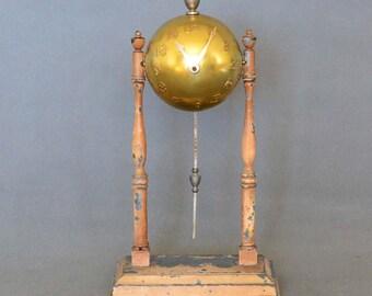 Vintage Globe World's Fair Baseball Clock - LUX 30-Hour Pendulette Movement - Globe Clock Company - c. 1936-1939
