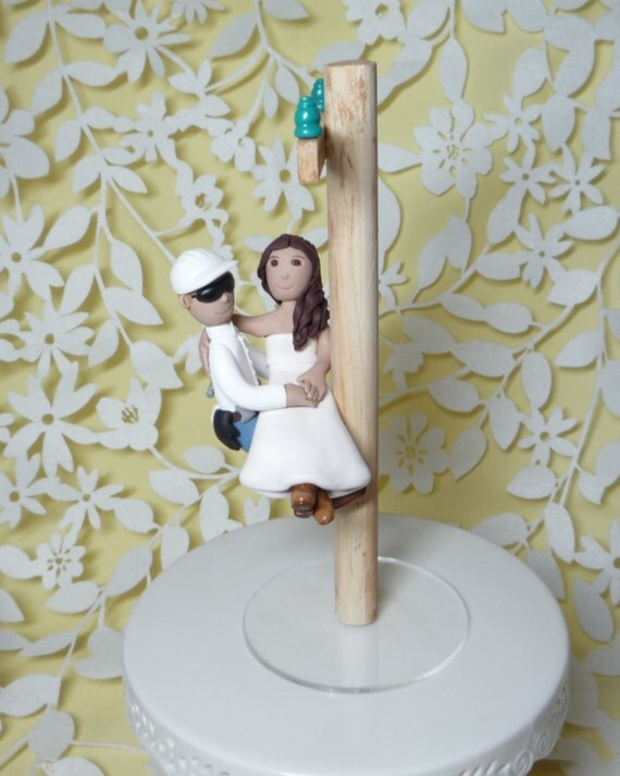 power lineman wedding cake topper lineman wedding cake topper with electric pole 18705