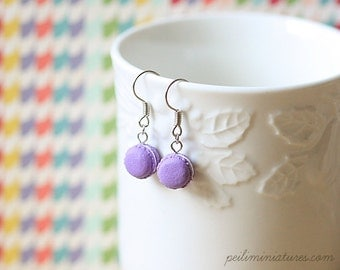 Dangling Macaron Earring in Royal Purple - Gift For Her