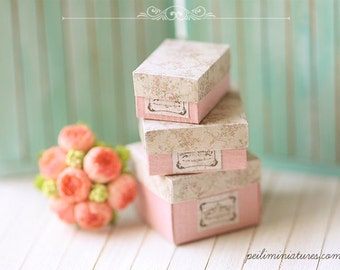 1:12 Dollhouse Miniature Antique Gift Boxes