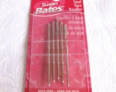 "Susan Bates steel 2"" yarn needles, size 16 tapestry needle, large eye blunt tipped, pack of 5 weaving needles, 14081"