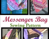 Herringbone Messenger Bag Sewing Pattern, Quilted Purse, Instant Download