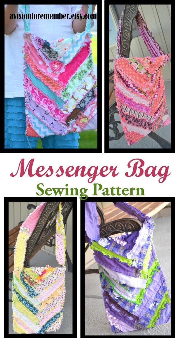 Items similar to Herringbone Messenger Bag Sewing Pattern, Quilted Purse, Instant Download ...