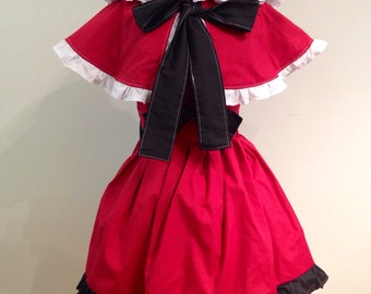 Little Red Riding Hood Costume Dress and Cape Set
