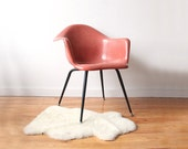 1960s Herman Miller Style Fiberglass Arm Shell Chair