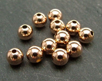Rose Gold Filled Plain Bead 5mm (CG6133)