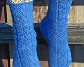 PDF - Indian Feather Sock Pattern - front design
