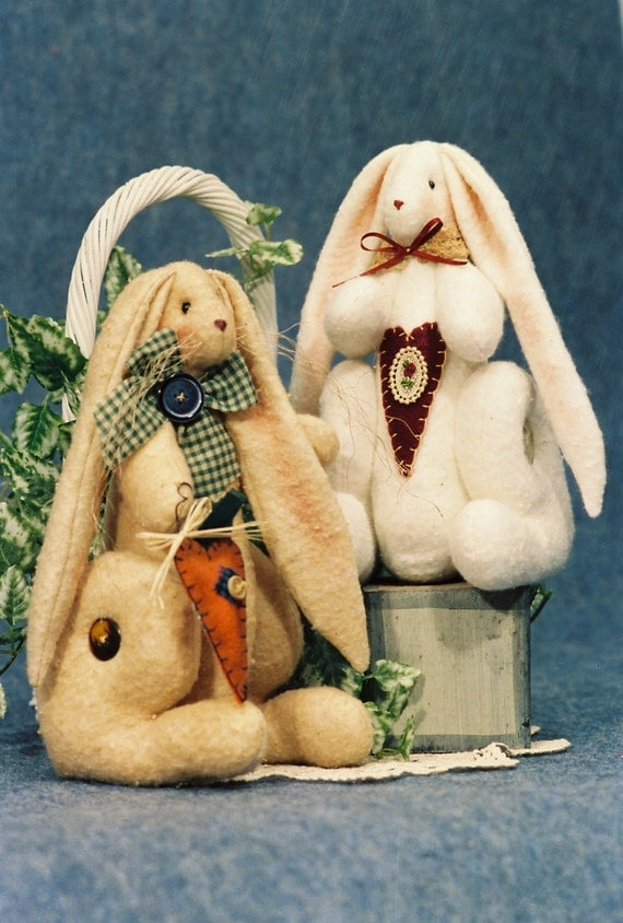 Cloth Doll E-Pattern 10in Cute Sitting Bunny Rabbit