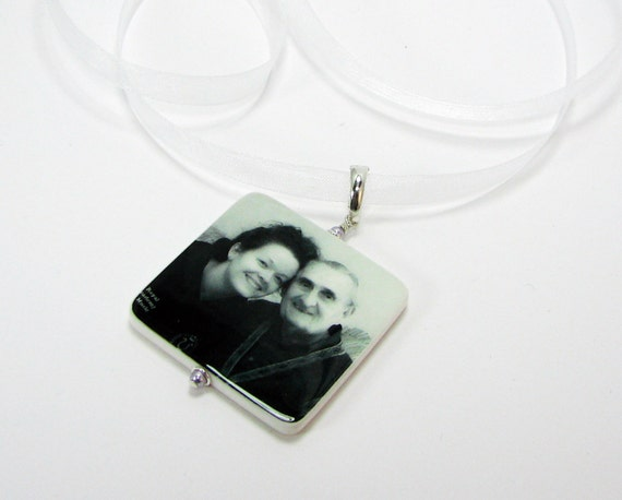 Bridal Bouquet Photo Charm - XLG Memorial Photo Bouquet Jewelry - BC19