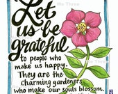 Home Decor - Illustrated quote - Marcel Proust - Home Decor - Floral - Garden