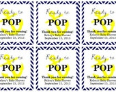 """Nautical """"Ready to Pop!"""" Baby Shower Favor Tags: Digital File"""