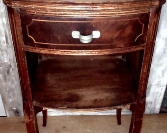 Vintage Marie Antoinette French Night Stand Junk Drawer