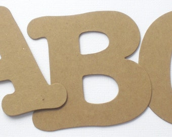 "3.5"" Boutique Font - Chipboard or Cardstock Die Cut Letters - Custom Lettering / Numbers"
