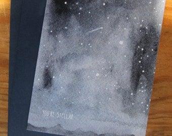 lark press watercolor you're stellar everyday greeting card