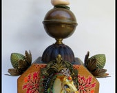 ONE TRICK PONY Assemblage Altar by Lauretta Lowell