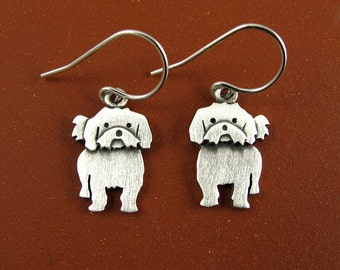 Tiny Shih Tzu earrings