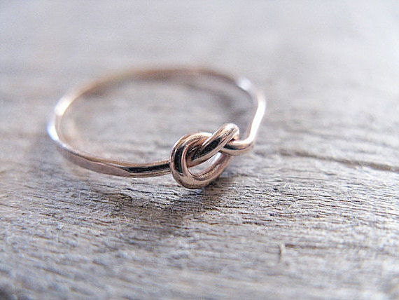 Knot Ring 14k Rose Gold Fill