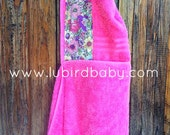 """SALE Hooded Towel """"Spring Flora"""""""