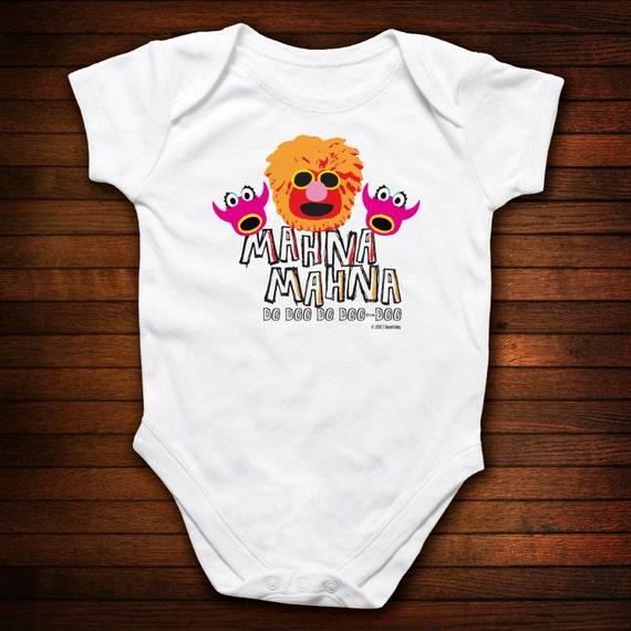 Mahna Mahna Baby One Piece Bodysuit - Funny Baby Gift