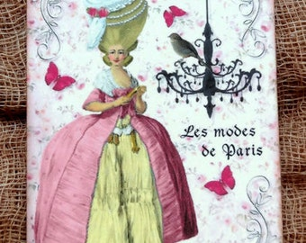 French Marie Antoinette Chandelier Gift or Scrapbook Tags or Magnet #506