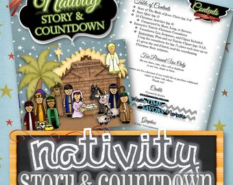 Nativity Advent & Story - INSTANT DOWNLOAD