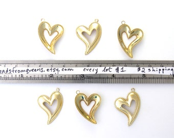 Lot 78: 6 Cutout Heart Charms
