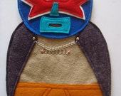 Handmade Mexican Wrestler Tree Topper, Luchadore, Christmas Tree Decoration,  UniqueTreetopper