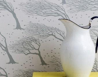 Northeasterly Wallpaper in Soft Grey - 10m x 52cm roll