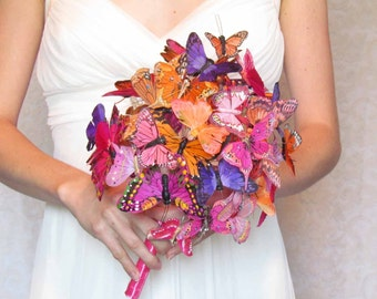 Butterfly Bouquet in Oranges, Pinks, and Purples... Example Only!! DO NOT PURCHASE