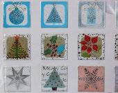 Semi see-through stickers, Christmas motives