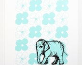 Flora Elephant Print - Limited Edition Serigraph