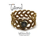 TUTORIAL Athena's Acanthus Bracelet Beaded with Herringbone Weave