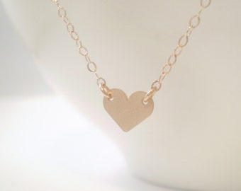 Tiny Heart Necklace, Heart Necklace, Love Necklace, Heart Charm