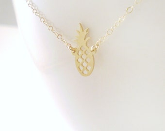Tiny Pineapple Necklace, Pineapple Necklace, Pineapple Charm, Southern Hospitality