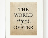 The World Is Your Oyster Print - Art Print - Dream Art - Pretty Chic