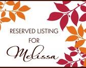 Reserved Listing for Melissa - Fall Leaves Wedding Invitation Set