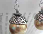 Golden Candied Acorns - Earrings